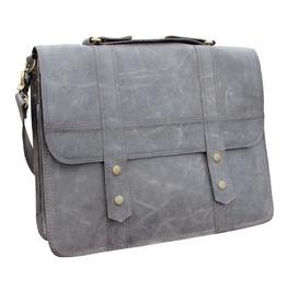 One Leaf Leather Messenger Bag X Pro Man Bag Urban Grey Leather