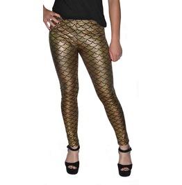 Gold Shiny Mermaid Leggings Design 214