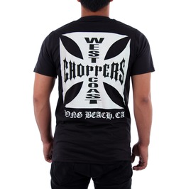 West Coast Choppers T Shirt Iron Cross Custom Motorcycles Bikers