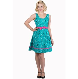 Banned Apparel Bright Light Turquoise Dress