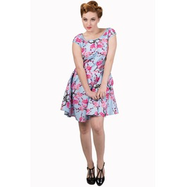 Banned Apparel Last Dance Blossom Blue Dress