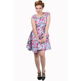 Banned Apparel Last Dance Blossom Blue Dress