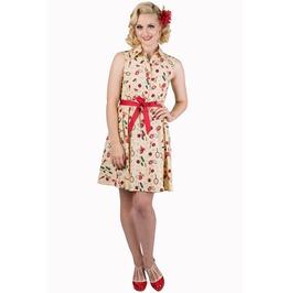 Banned Apparel New Romantic Sleeveless Beige Dress