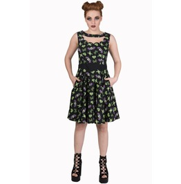 Banned Apparel Midnight Hour Black/Green Dress