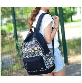Skull Printed High Quality Backpack Women's Travel Bags