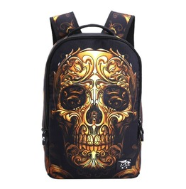 Punk Rocl Skull Printing Unisex Backpack