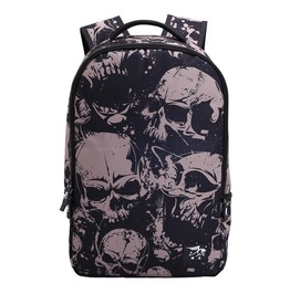 Punk Rocl Black Skull Printing Unisex Backpack