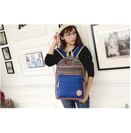 Retro Backpack Campus Style Women's
