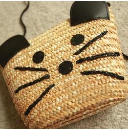 Straw Bag Cute Little Mouse Kawaii Beach Bags Women's
