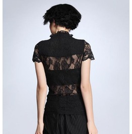 Elegant European Style Blouse With Laced Back And Shoulders