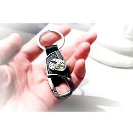 Steampunk Bdsm Leather Metal Keychain Car Robot Key Chain Mens Accessory