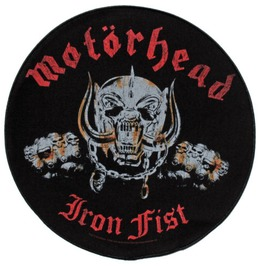 Motorhead Large Back Patch Official 29cm X 29cm Iron Fist