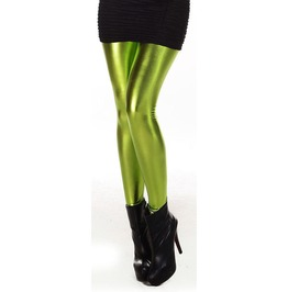 Green Wet Look Leggings Design 160