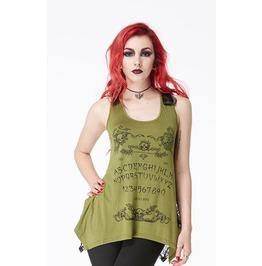 Jawbreaker Vest Top Ouija Board Olive Green