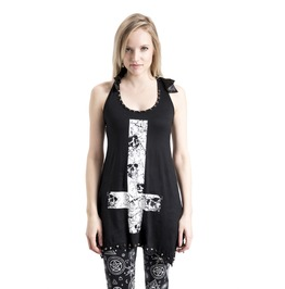 Jawbreaker T Shirt Top Studs Inverted Cross Bows Lace Back Skulls