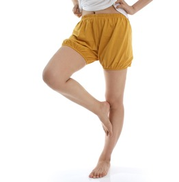 Iyengar Yoga/Pole Dance Pilates Cotton Bloomer Bubble Shorts Muster Yellow
