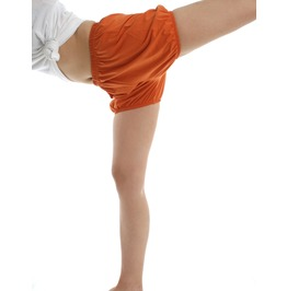 India Iyengar Yoga/Pole Dance Pilates Cotton Bloomer Bubble Shorts Orange