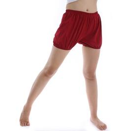 India Iyengar Yoga/Pole Dance Pilates Cotton Bloomer Bubble Shorts Crimson