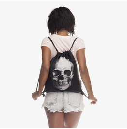 Skull Printed Drawstring Bag Unisex