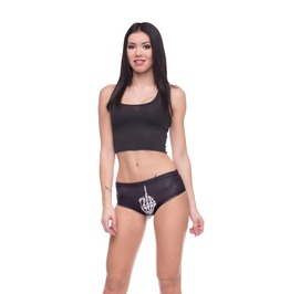 Unique Underwear Women Bones Printed Long Slevee Punk Rock Women's