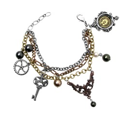Mrs Hudson's Cellar Keys Men's Steampunk Bracelet By Alchemy Gothic