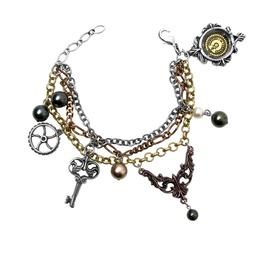 Mrs Hudson's Cellar Keys Men's Steampunk Bracelet By Alchemy Gothic