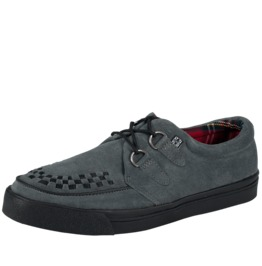 Tuk Gray Suede Creeper Sneaker Grey Rockabilly 50s Shoe Free Us Shipping