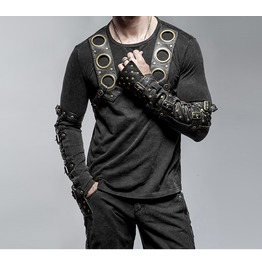 Gothic Goth Rock Metal Steampunk Black Long Sleeve Shirt Top By Punk Rave