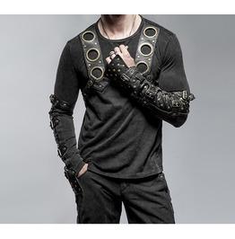 Gothic Goth Rock Metal Steampunk Black Long Sleeve Shirt Top By Punk Rave