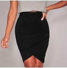 Cross Hem Slim Party Woman's Wrap Skirts