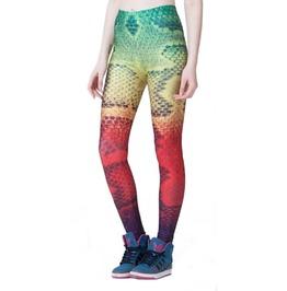 Rainbow Snake Skin Leggings Design 550