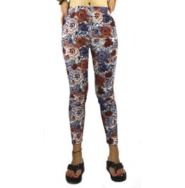 Red And Blue Floral Leggings Design 407