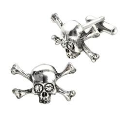 Skull'n'bones Stargazer Men's Gothic Cufflinks By Alchemy Gothic