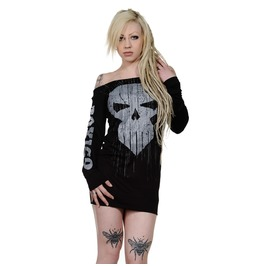Toxico Clothing Black Trans Skull Jumper Dress