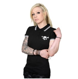 Toxico Clothing Black Os Skull Polo Shirt