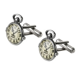 Uncle Albert's Fob Watch Men's Steampunk Cufflinks By Alchemy Gothic