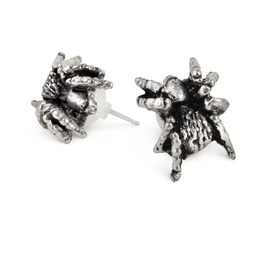 Black Widow Studs Unisex Earrings By Alchemy Gothic