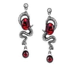 Serpent's Eye Ladies Gothic Earrings By Alchemy Gothic