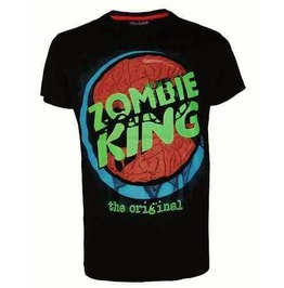 Zombie King T Shirt Horror Undead Emo Funny