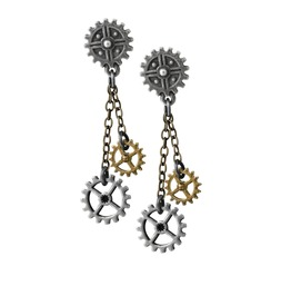 Machine Head Ladies Steampunk Earrings By Alchemy Gothic
