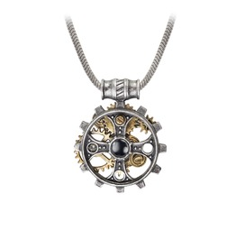 Foundryman's Ring Cross Men's Steampunk Pendant By Alchemy Gothic