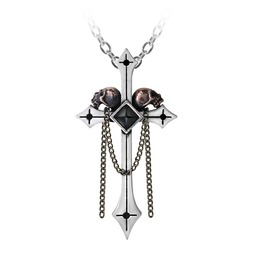 Golgotha Ladies Gothic Pendant By Alchemy Gothic