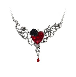 The Blood Rose Heart Ladies Gothic Pendant By Alchemy Gothic