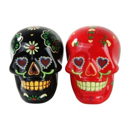 Day Of The Dead Salt And Pepper Shaker