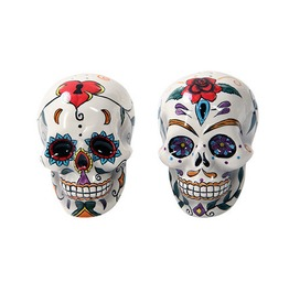 Day Of The Dead Skull Salt And Pepper Shaker