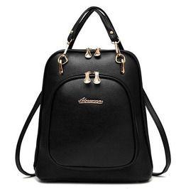 Multi Purpose Pu Leather Backpack V1