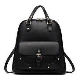 Multi Purpose Pu Leather Backpack V11