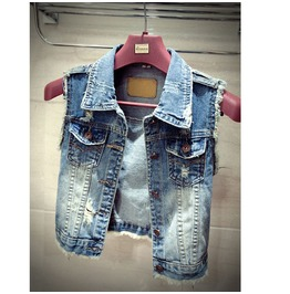 Denim Vest Casual Elegant Jacket Women's