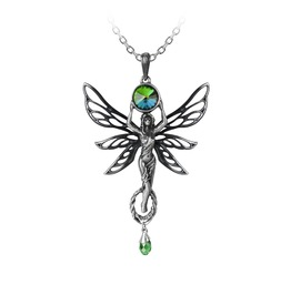 The Green Goddess Ladies Gothic Pendant By Alchemy Gothic