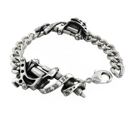 Tattoo Gun Men's Alternative Bracelet By Alchemy Gothic
